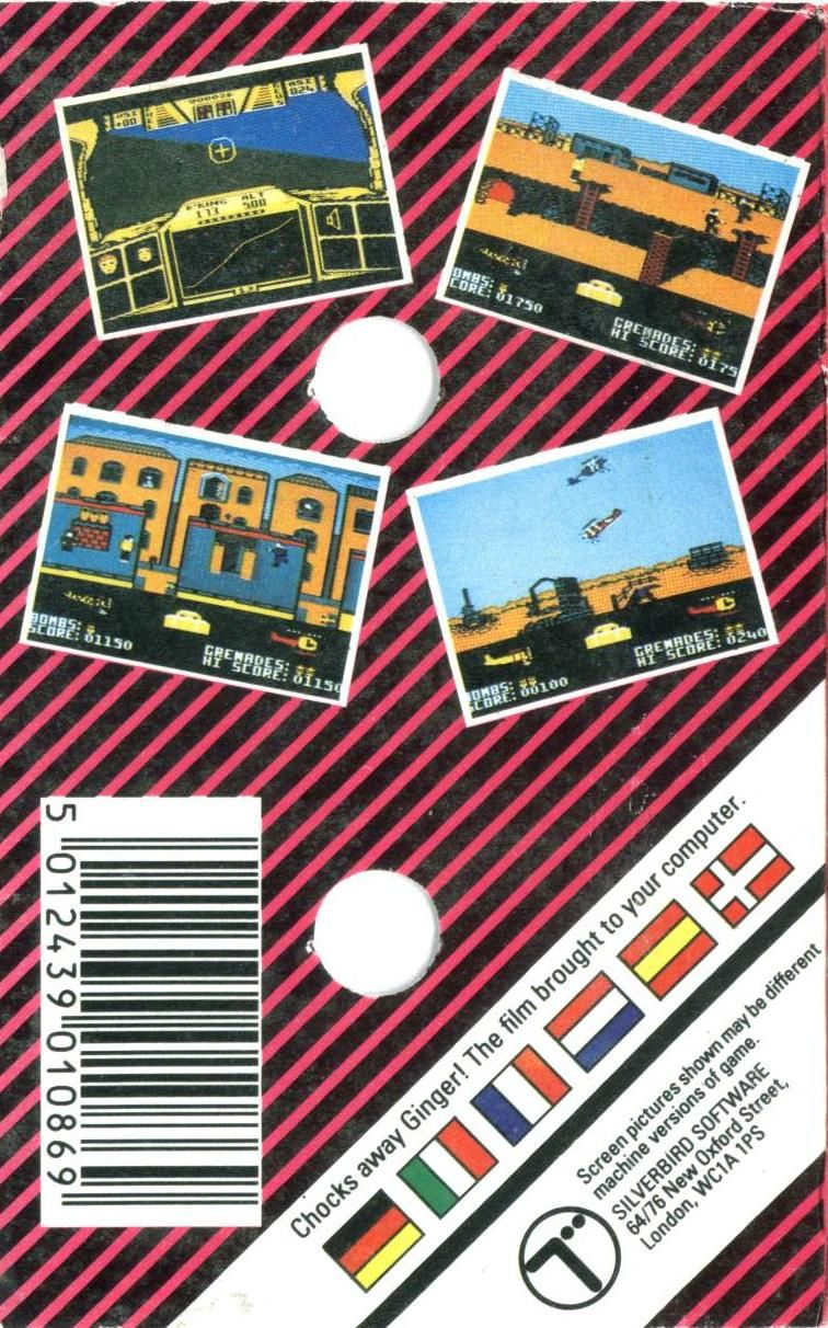 Biggles ZX Spectrum Back Cover