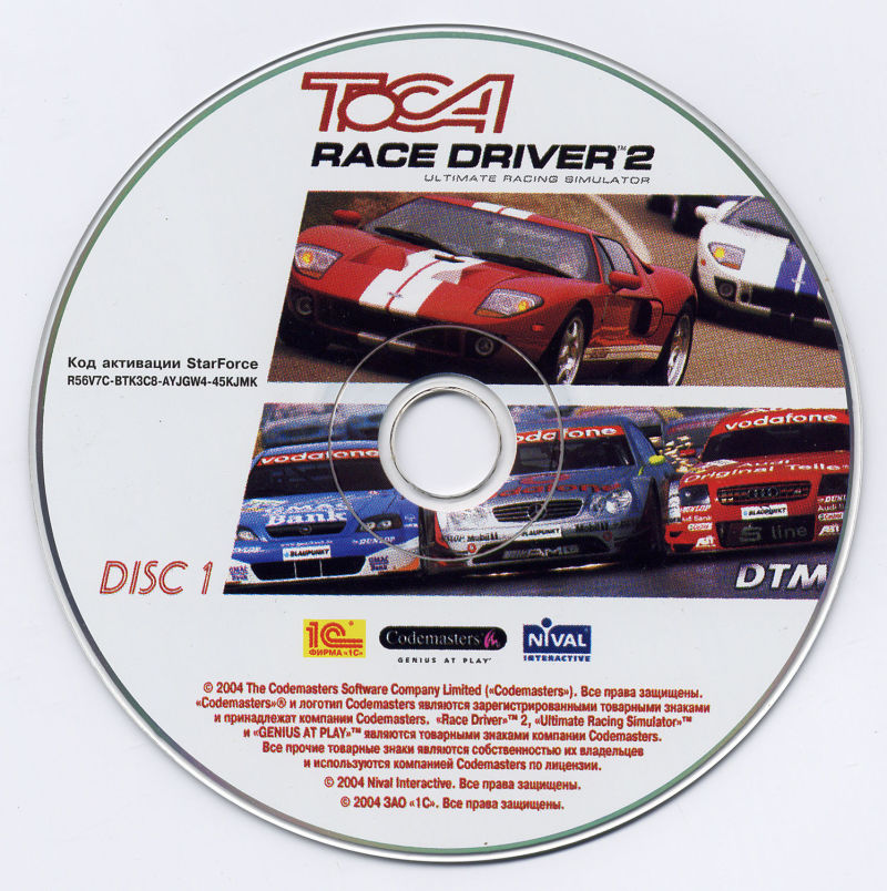 TOCA Race Driver 2 Windows Media Disc 1/4