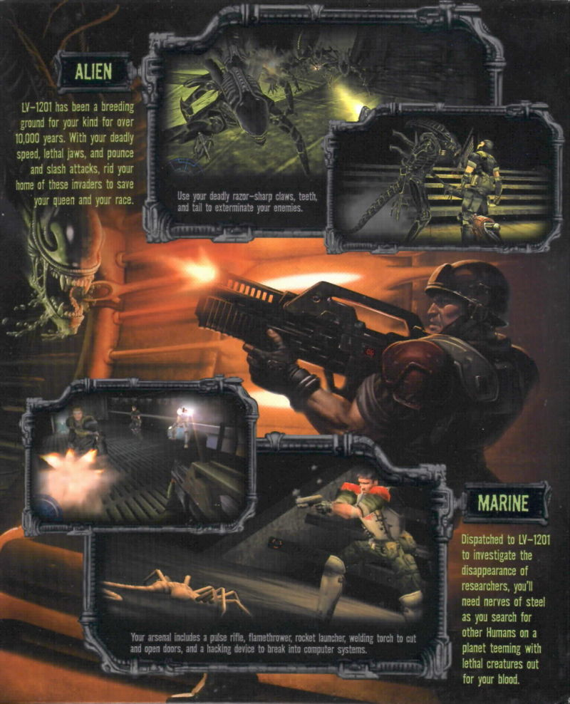 Aliens Versus Predator 2 Windows Inside Cover Right Flap