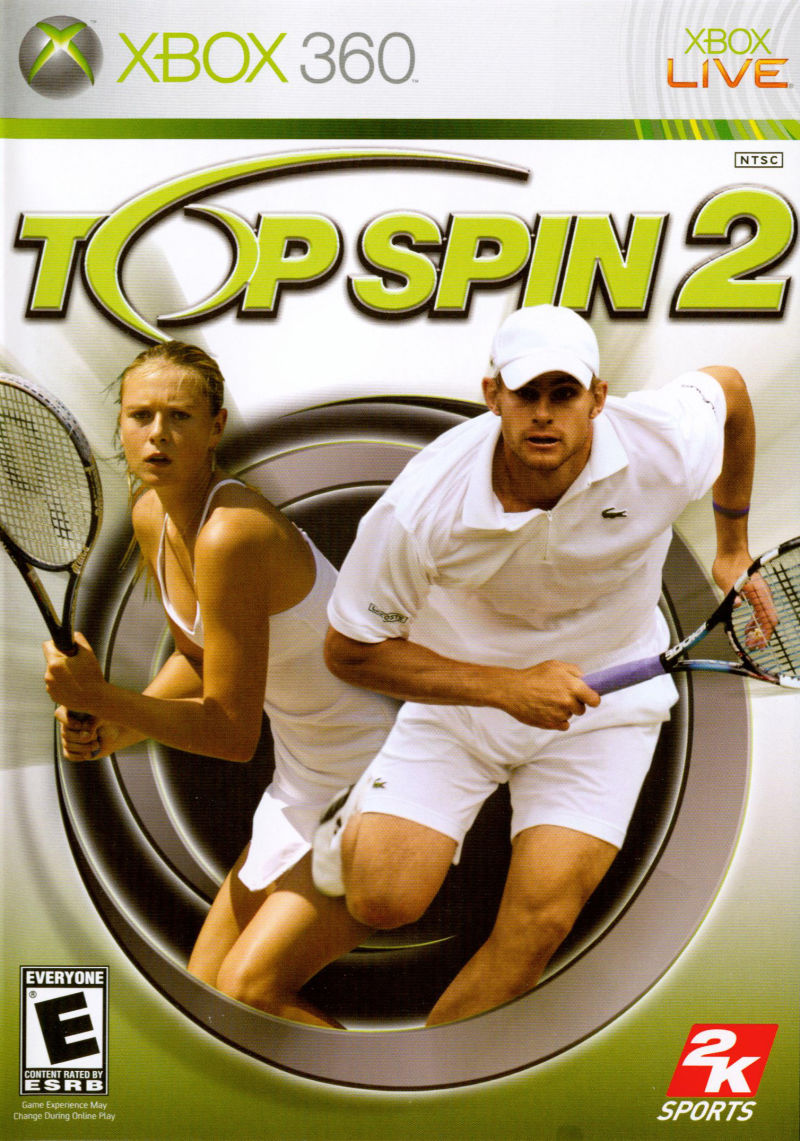 Top Spin 2 Xbox 360 Front Cover