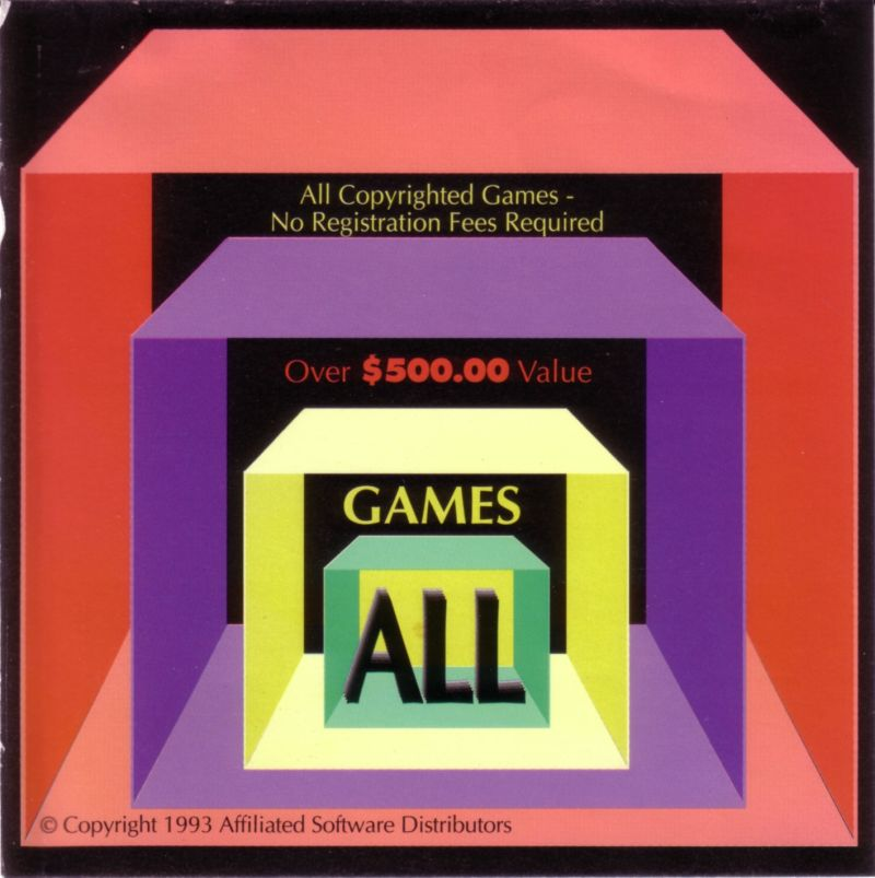 All Games DOS Front Cover