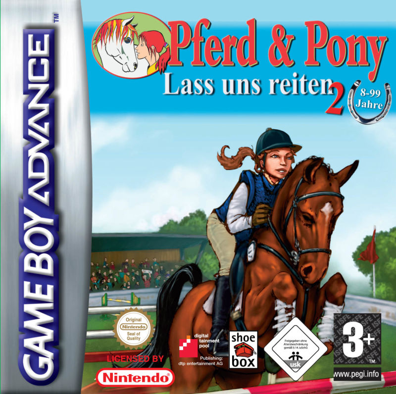 Pferd & Pony: Lass uns reiten 2 Game Boy Advance Front Cover