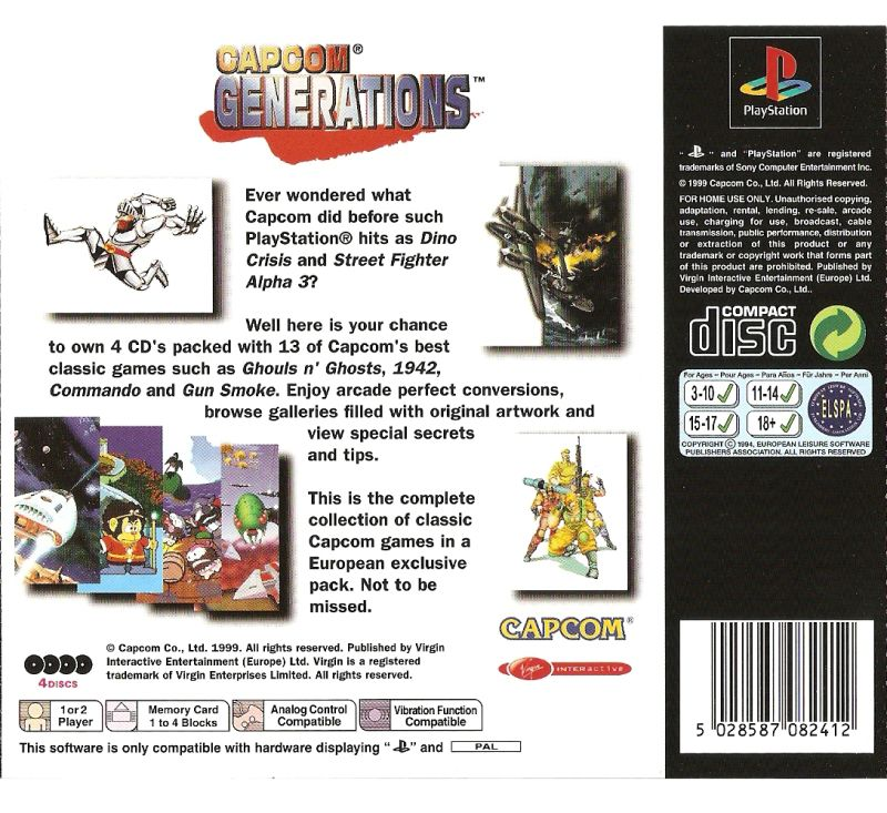 Capcom Generations PlayStation Back Cover