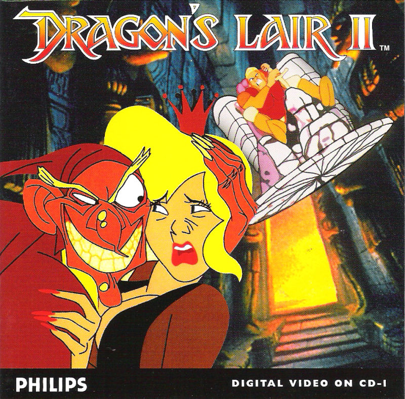Dragon's Lair II: Time Warp CD-i Front Cover