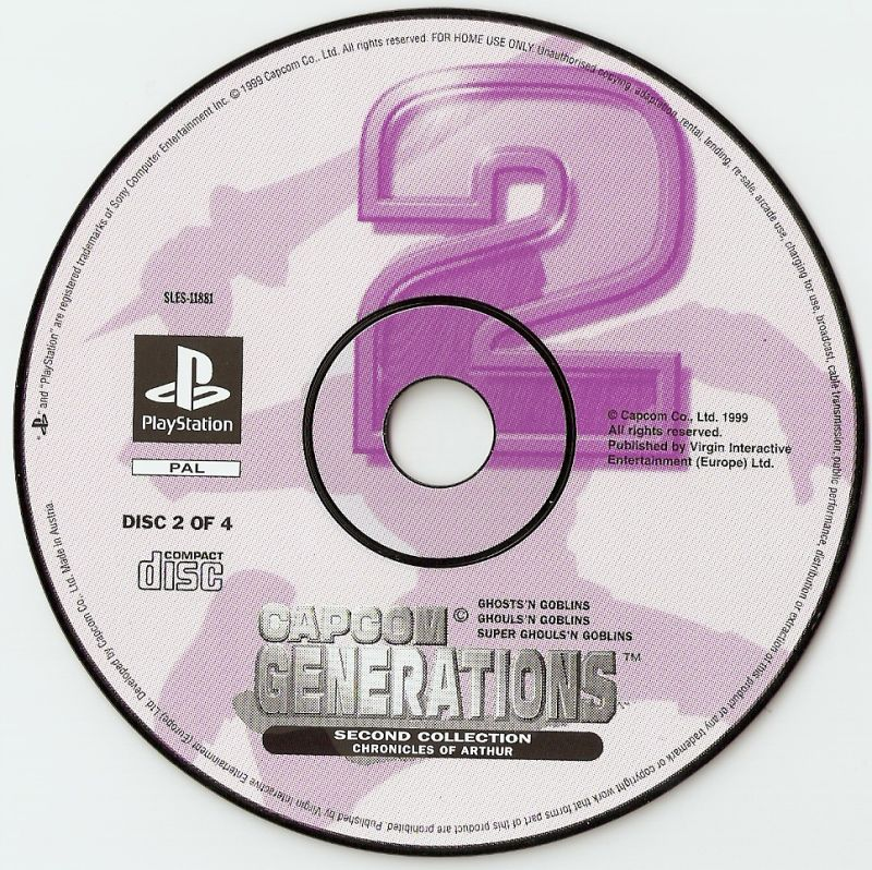 Capcom Generations PlayStation Media Disc 2 - Chronicles of Arthur