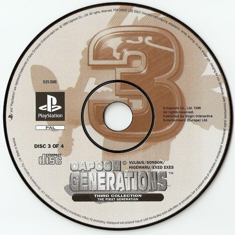 Capcom Generations PlayStation Media Disc 3 - The First Generation