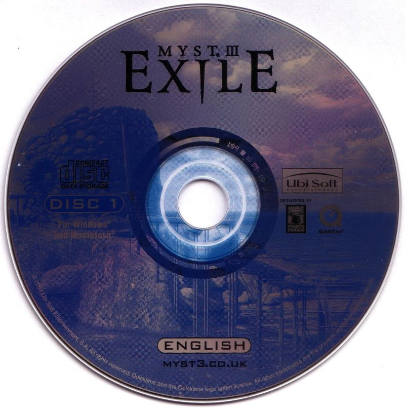 Myst III: Exile Macintosh Media Disc 1