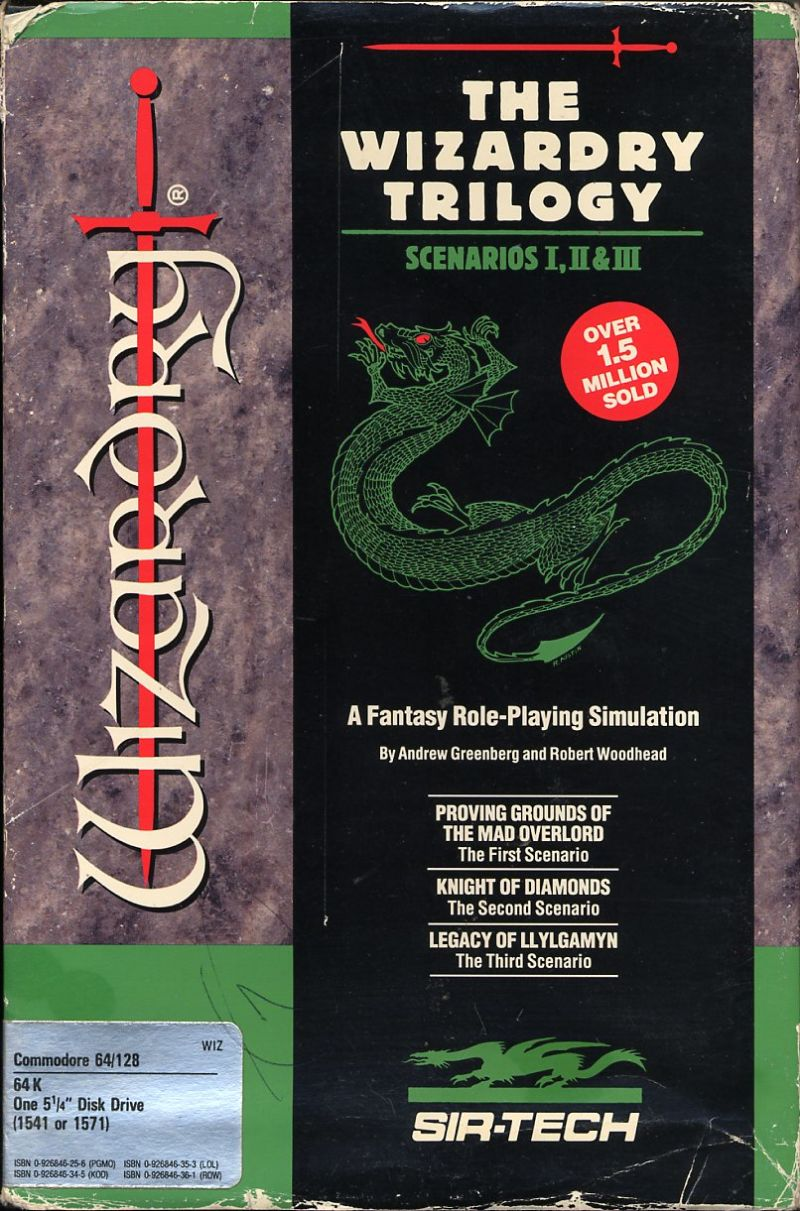 The Wizardry Trilogy: Scenarios I, II & III Commodore 64 Front Cover