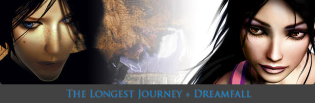 The Longest Journey + Dreamfall Windows Front Cover