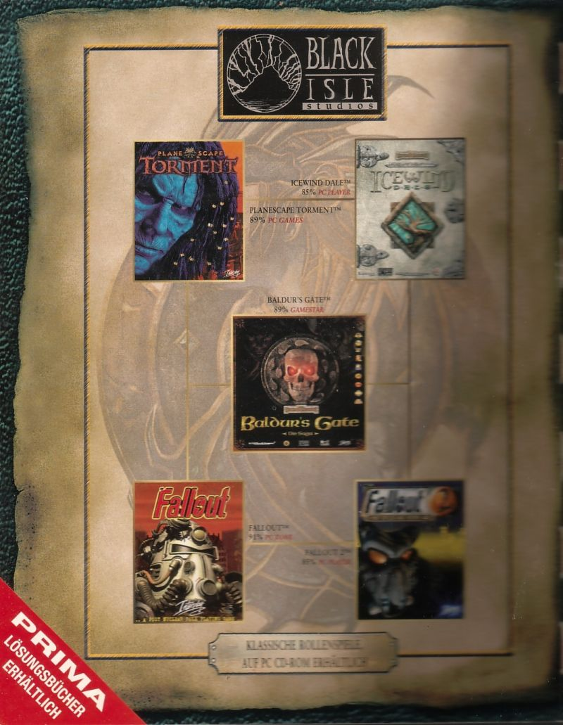Baldur's Gate II: Shadows of Amn Windows Inside Cover Left