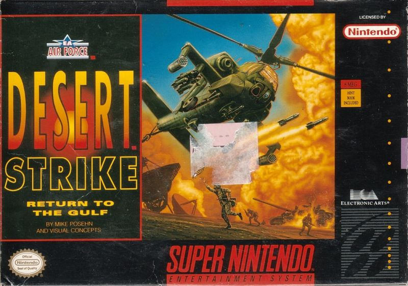 Desert Strike Return To The Gulf For Snes 1992 Mobygames