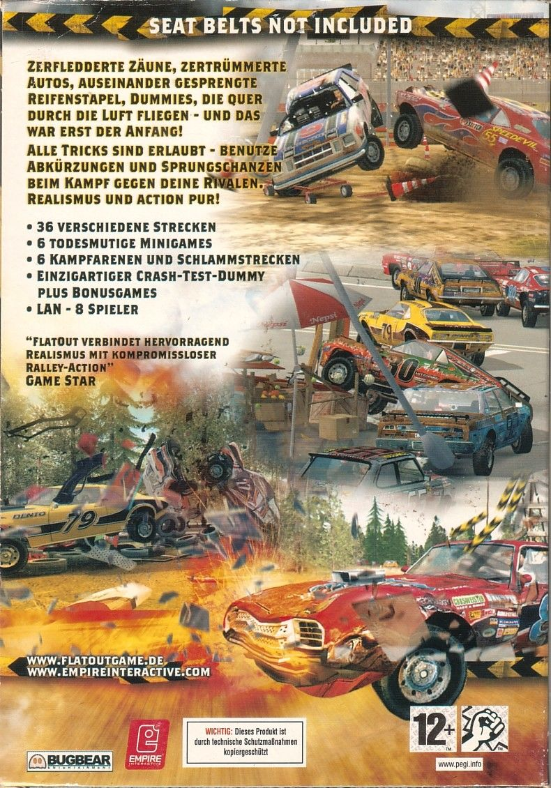 FlatOut Windows Back Cover