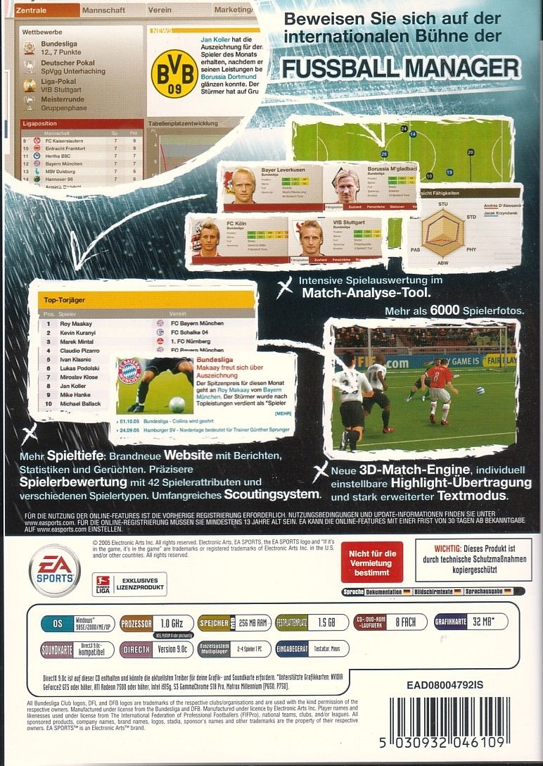Fifa Manager 06 2005 Windows Box Cover Art Mobygames