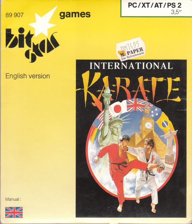 World Karate Championship DOS Front Cover