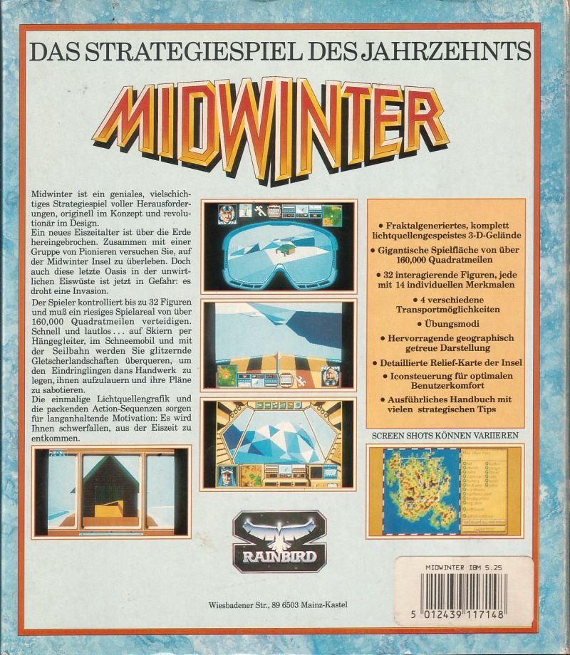 Midwinter DOS Back Cover