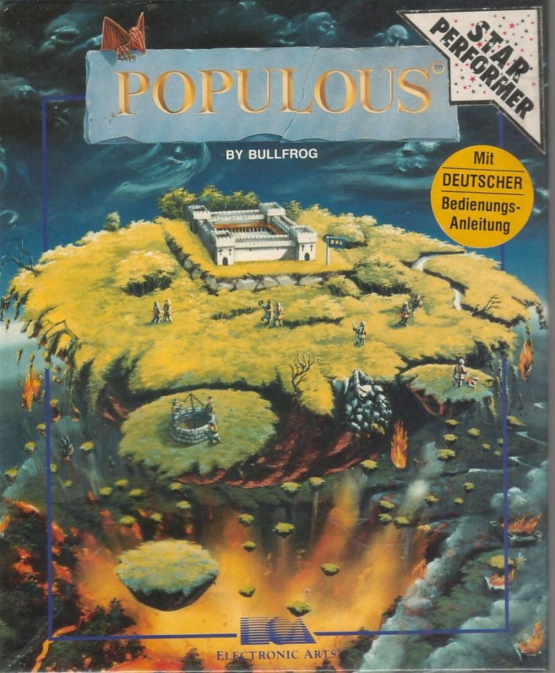 Populous DOS Front Cover