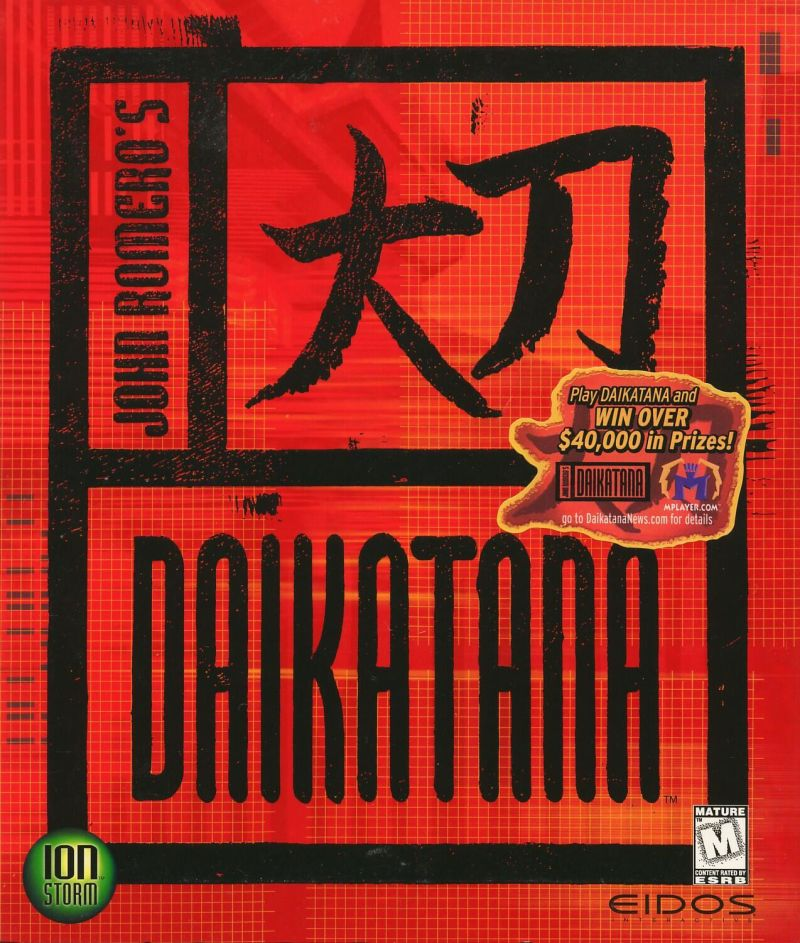 John Romero's Daikatana Windows Front Cover