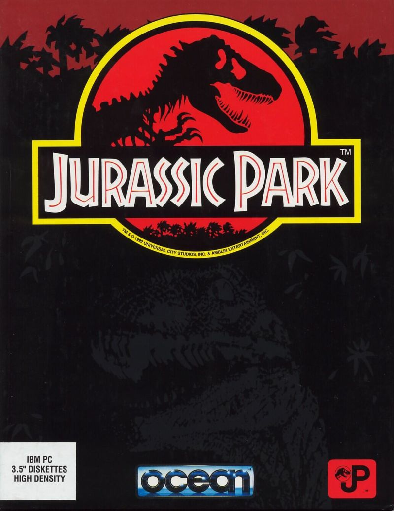 Jurassic Park DOS Front Cover