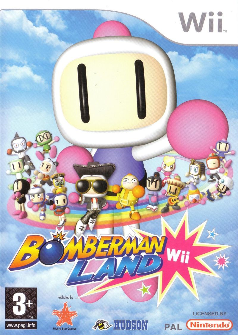 Bomberman Land Wii Front Cover