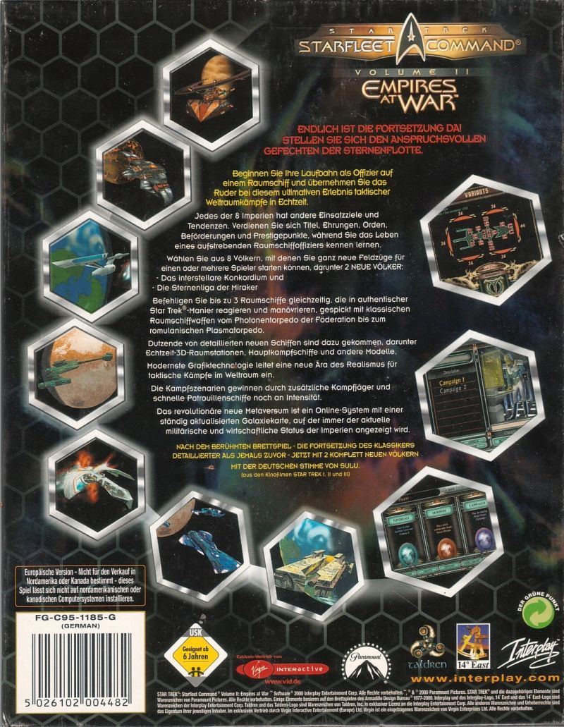 Star Trek: Starfleet Command Volume II - Empires at War Windows Back Cover