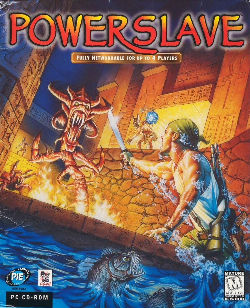 Powerslave DOS Front Cover