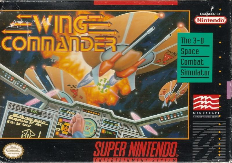 Wing Commander SNES Front Cover