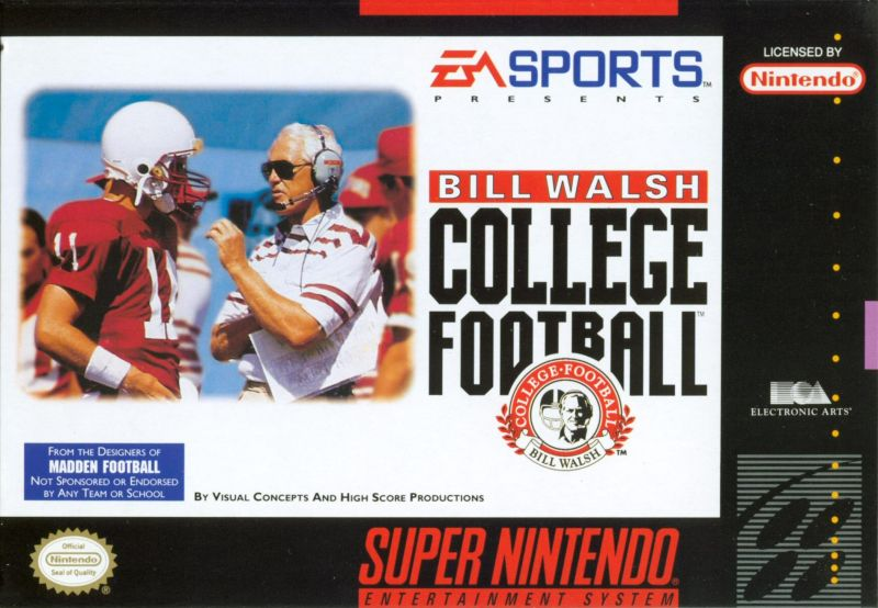 Bill Walsh College Football  SNES Front Cover