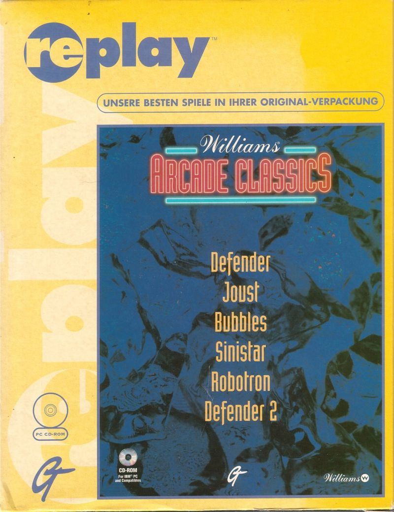 Williams Arcade Classics DOS Front Cover