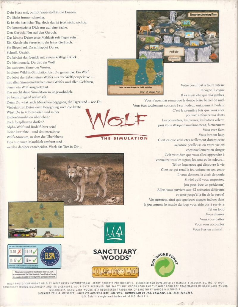 Wolf DOS Back Cover