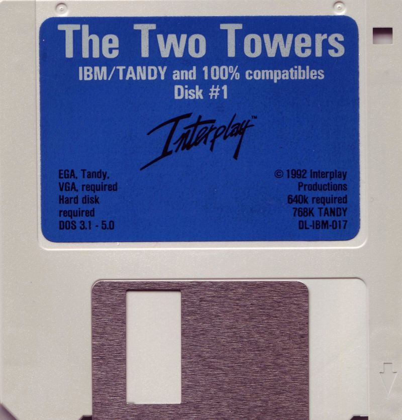 "J.R.R. Tolkien's The Lord of the Rings, Vol. II: The Two Towers DOS Media 3.5"" Disk 1 / 5"