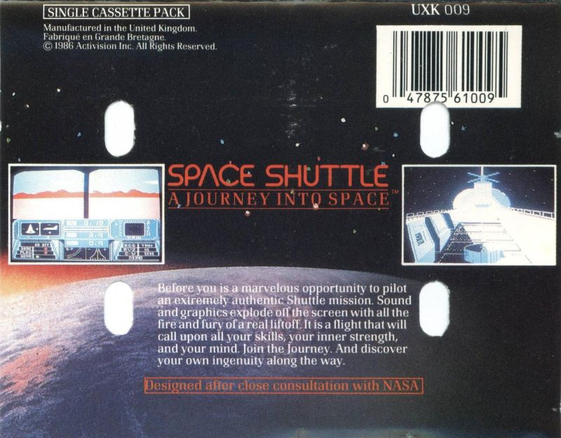 Space Shuttle: A Journey into Space MSX Back Cover