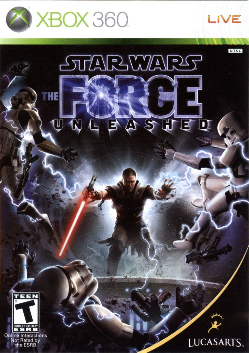 Star Wars: The Force Unleashed (2008) Xbox 360 box cover ... Xbox 360 Game Cover Size