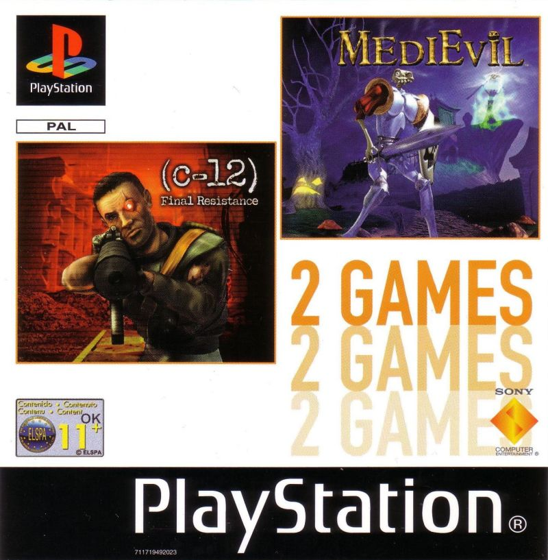 MediEvil / C-12: Final Resistance PlayStation Front Cover
