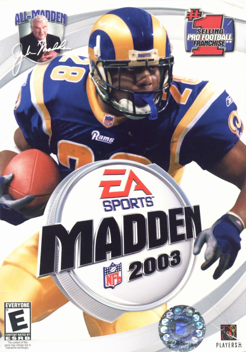 Madden NFL 2003 Windows Front Cover