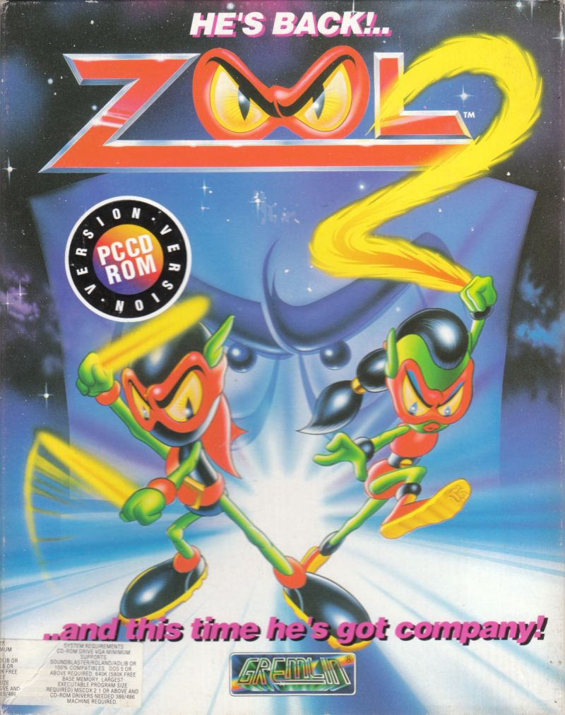Zool 2 DOS Front Cover