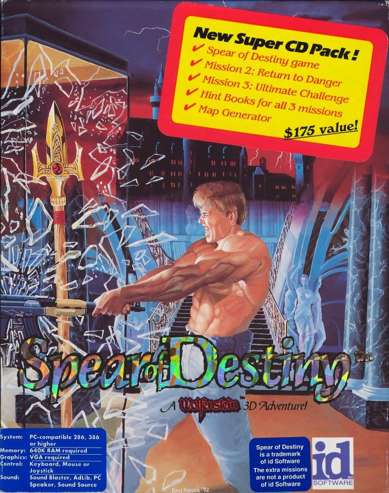 Spear of Destiny: Super CD Pack DOS Front Cover