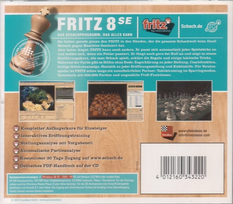 Fritz 8 Windows Back Cover