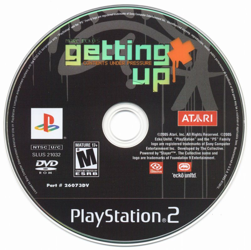 Marc Ecko's Getting Up: Contents Under Pressure PlayStation 2 Media