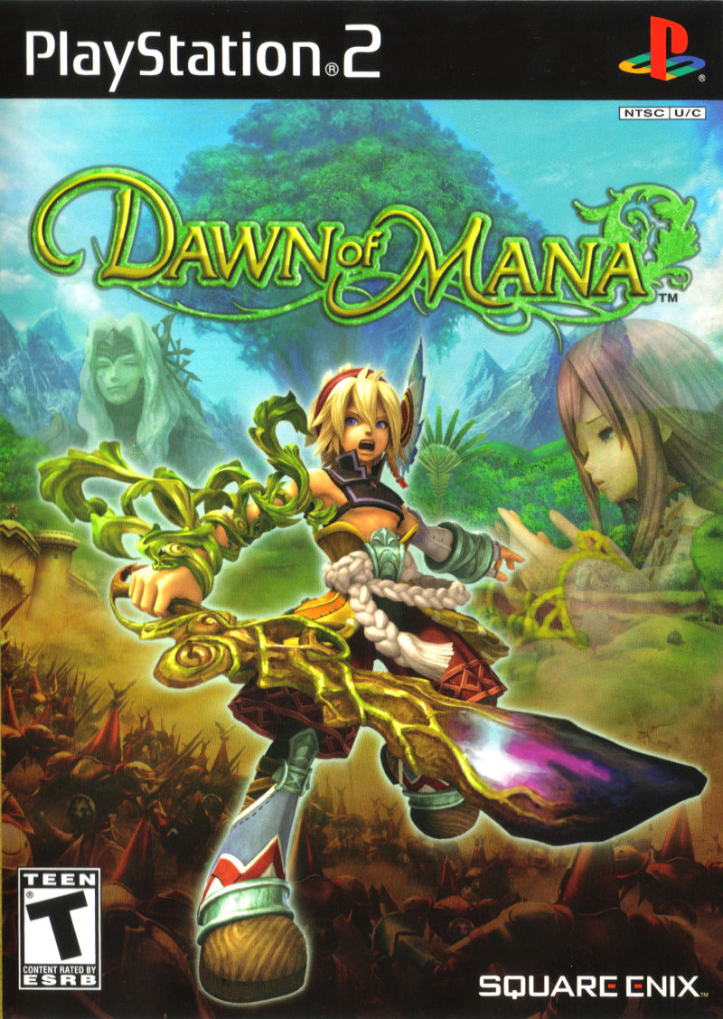 Dawn of Mana PlayStation 2 Front Cover