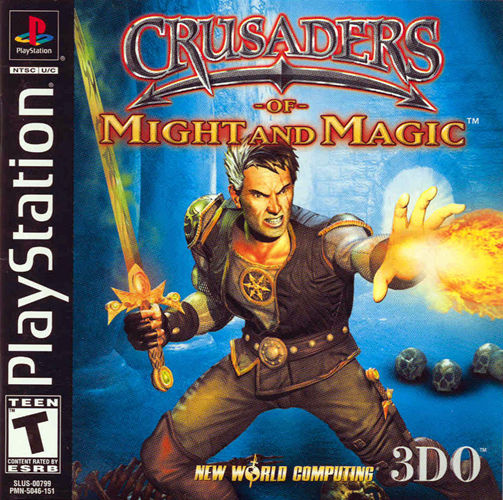 Crusaders of Might and Magic PlayStation Front Cover
