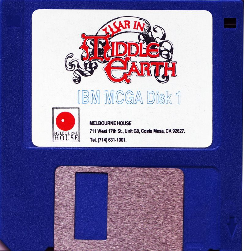J.R.R. Tolkien's War in Middle Earth DOS Media Disk 1/2