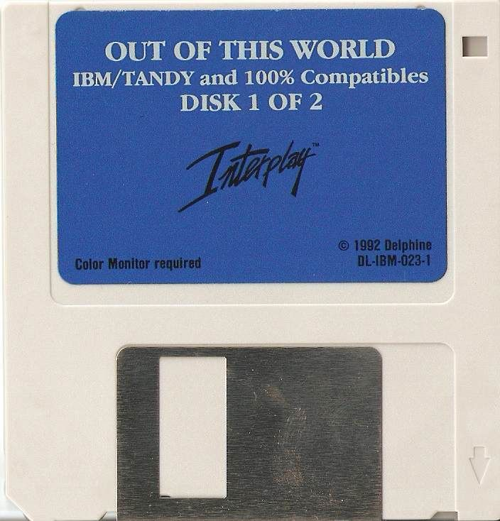 Out of This World DOS Media 3.5'' Floppy - Disk 1 of 2
