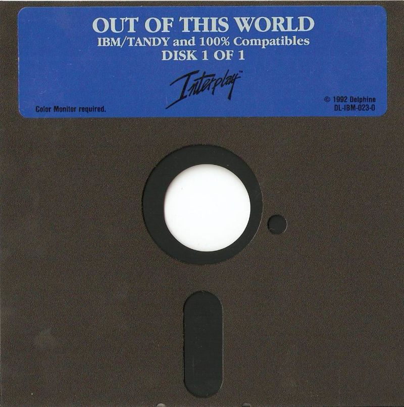 Out of This World DOS Media 5.25'' Floppy