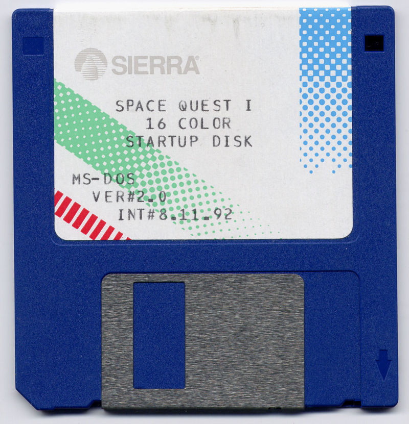 Space Quest I: Roger Wilco in the Sarien Encounter DOS Media Disk 1/6