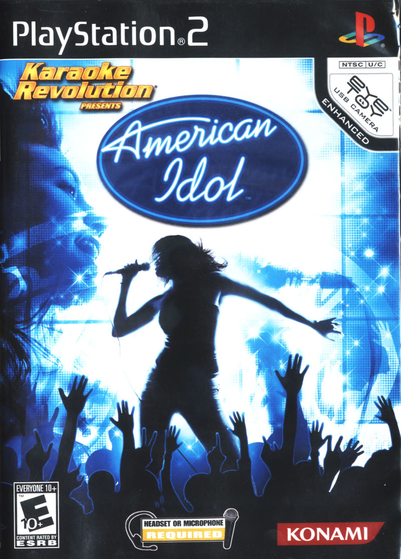 Karaoke Revolution Presents: American Idol PlayStation 2 Front Cover