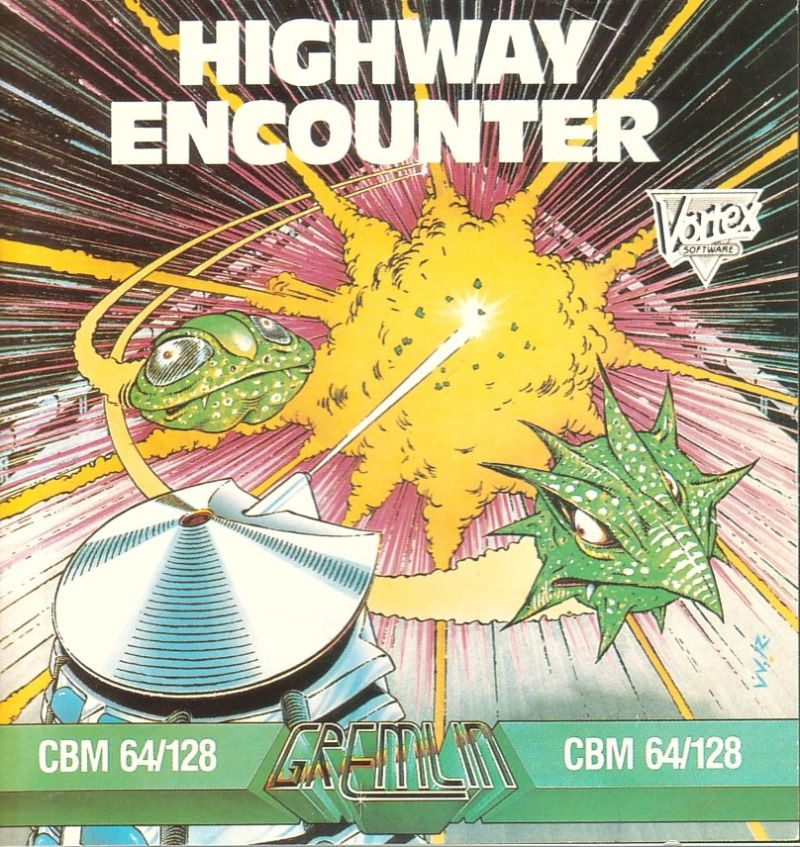 Highway Encounter Commodore 64 Front Cover