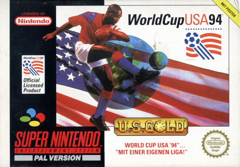 World Cup USA 94 SNES Front Cover
