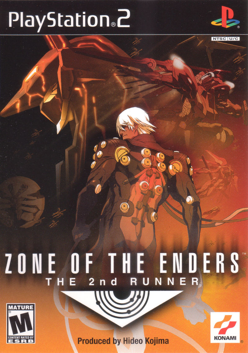 Zone of the Enders: The 2nd Runner PlayStation 2 Front Cover