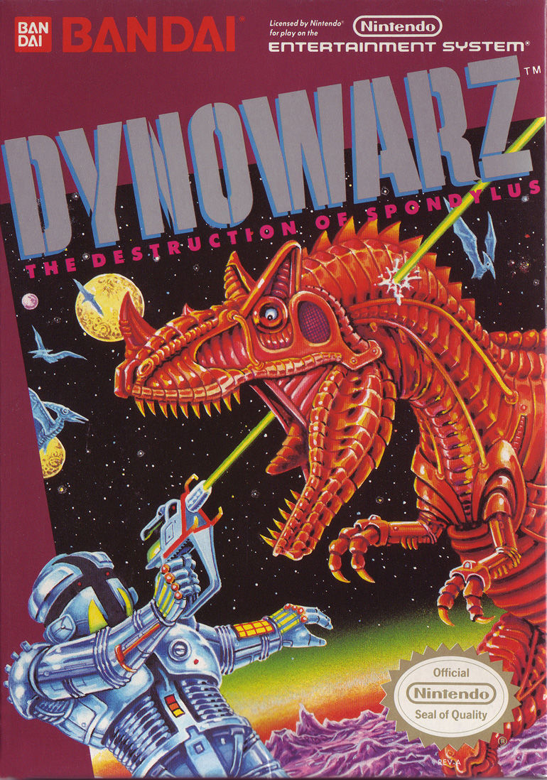 Dynowarz: Destruction of Spondylus NES Front Cover