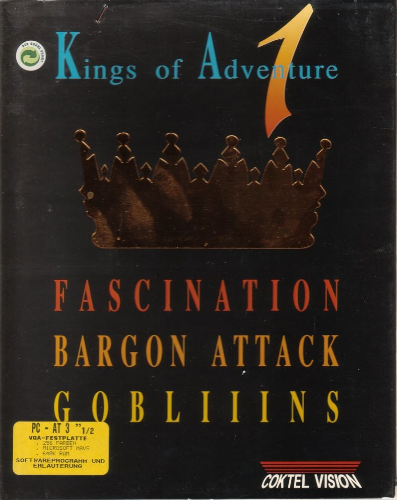 Kings of Adventure 1 DOS Front Cover